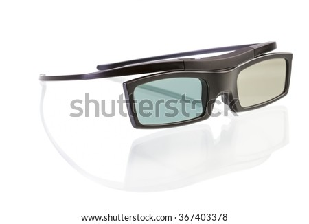 3d glasses isolated on white background - stock photo
