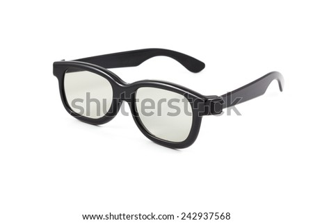 3D glasses on the white background - stock photo