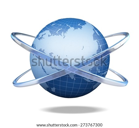 3D. Globe, Internet, Global Communications. - stock photo
