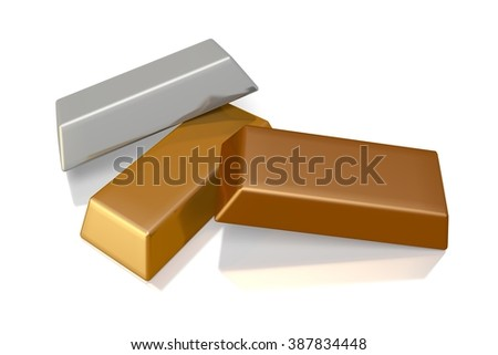 3D gold concept - great for topics like finance, banking treasure etc. - stock photo