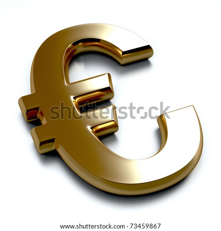 3D Gold Euro - stock photo