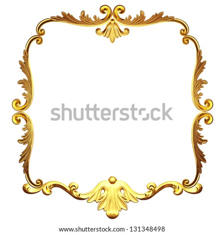 3d gold framework on a white background