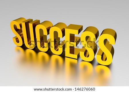 3D Gold SUCCESS - stock photo