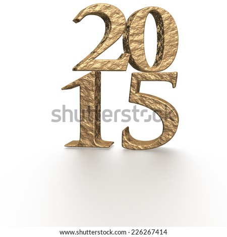 3d gold text 2015 happy new year design.