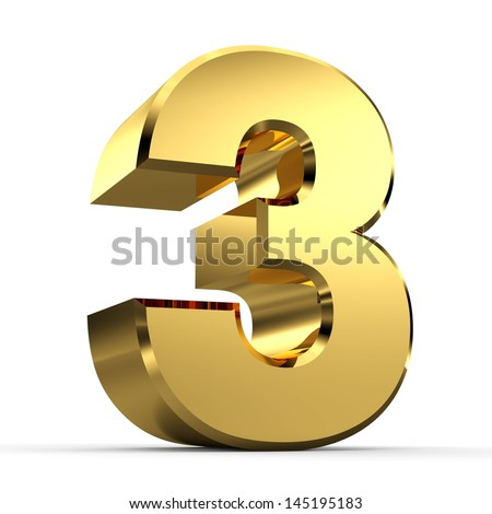 3D Golden Number Collection 3