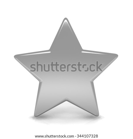3d golden stars render isolated with white background  - stock photo
