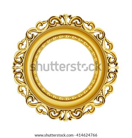 3 D Golden Vintage Classic Frame On Ilustración de stock414624766 ...