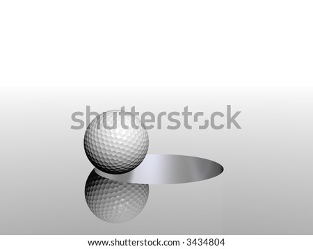 3D golf ball and hole