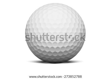 3D. Golf Ball, Golf, Ball. - stock photo