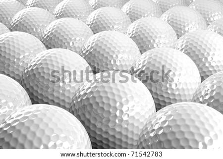 3d Golf balls - stock photo