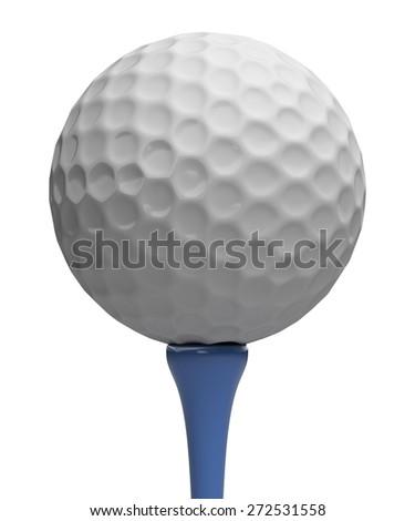 3D. Golf, Golf Ball, Ball. - stock photo