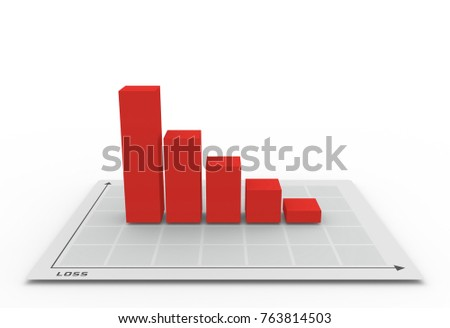 3D graph going down in loss concept