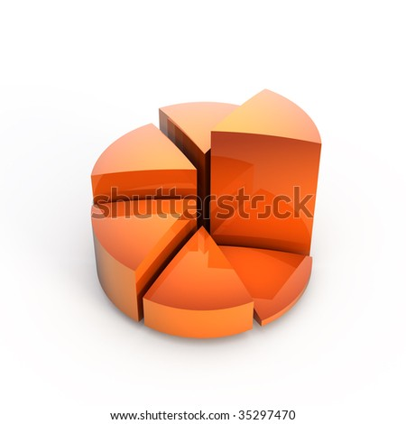 3d graph on a white background