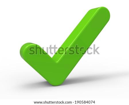 3d Green Check Mark - stock photo