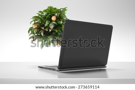 3D. Green, Environment, Technology. - stock photo