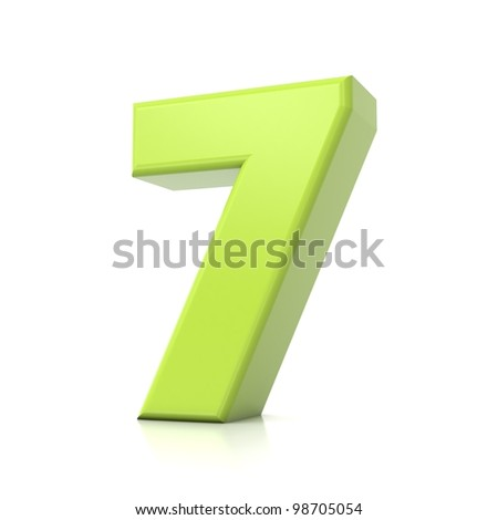 3D green number collection - 7