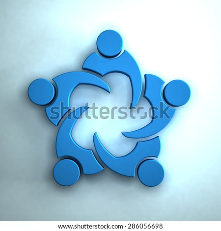 3D Group of people meeting. Teamwork concept - stock photo