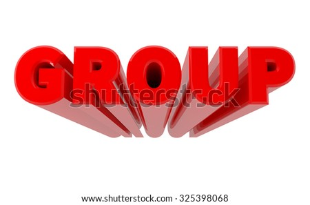 3D GROUP word on white background 3d rendering - stock photo