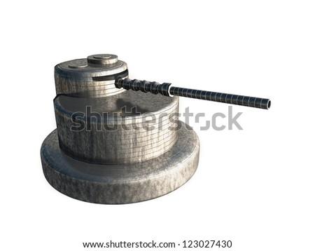 3D Gun - stock photo
