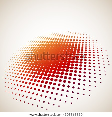 3D halftone circle background with copy space - stock photo