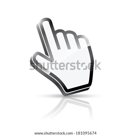 3d hand cursor illustration (rasterized version). - stock photo