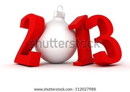 3d Happy New Year 2013 ! - stock photo
