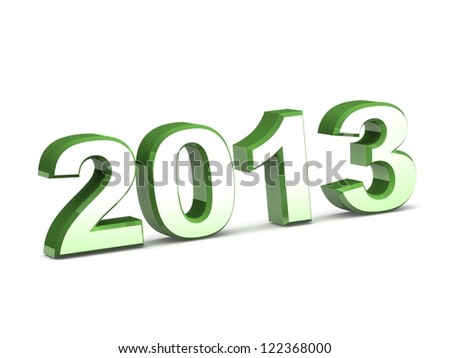 3d Happy New Year 2013 calendar background. isolated on white background