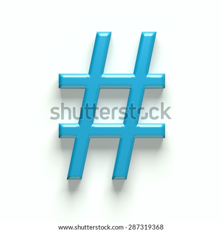 3D hash tag  - stock photo
