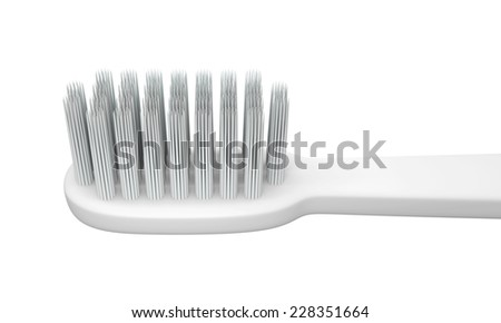 3D Head Toothbrush, isolated  - stock photo