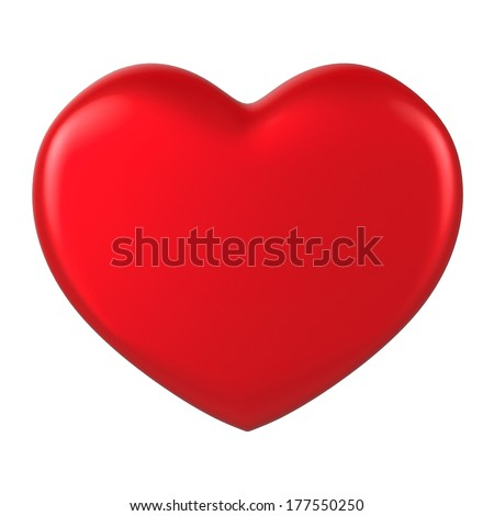 3D Heart Shape on a plain background