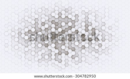 3d hexagonal background design with white borders