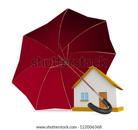 3d Home security concept - stock photo