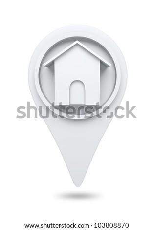 3D Home website icon design element. isolated - stock photo