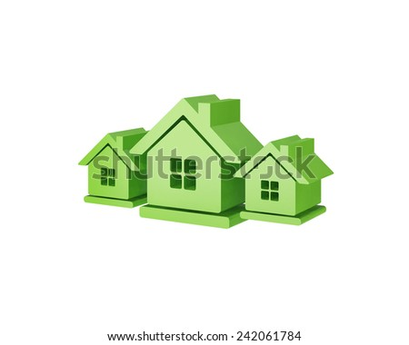 3d house - stock photo