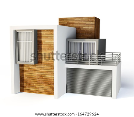 3d house isolated on a white background - stock photo