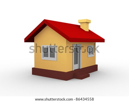 3d house isolated on white background