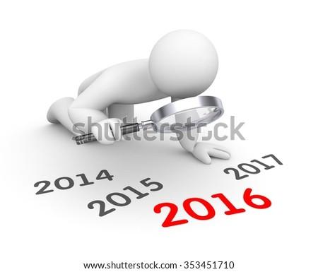 3d human examine 2015 word - stock photo