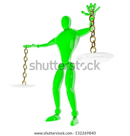 3d human weigher justice - stock photo