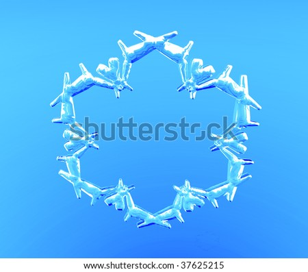 3D illustrated transparent snowflake