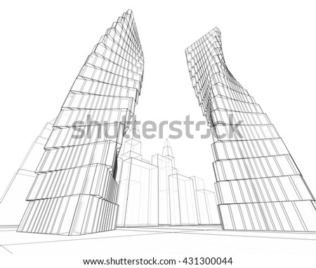 3d illustration, abstract architecture