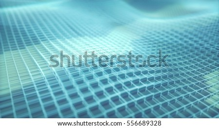 3D illustration, abstract background in the form of cubes and linear structures.