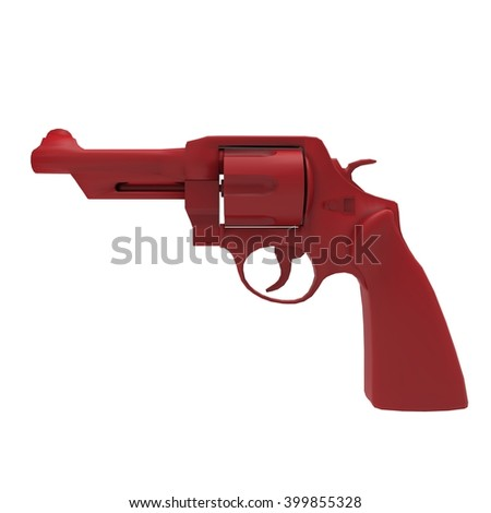 3D illustration abstract of  revolver