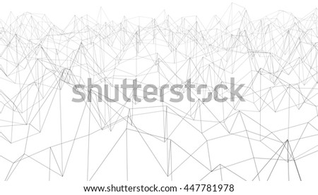 3D Illustration - Abstract polylines - stock photo