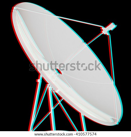 . 3D illustration. Anaglyph. View with red/cyan glasses to see in 3D. - stock photo