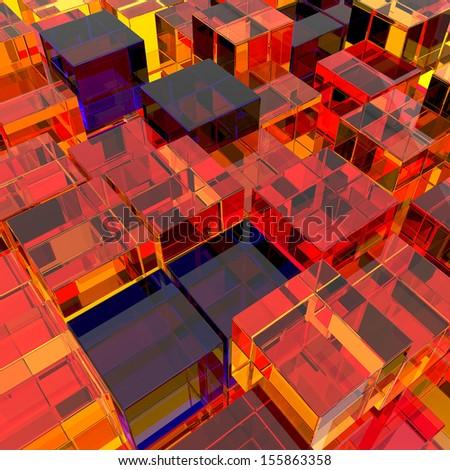 3d illustration basic geometric shapes - stock photo