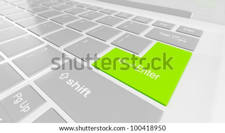 3d illustration: button on the keyboard input - stock photo