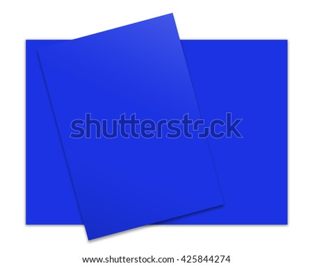 3d illustration close up of stack of papers on white background
