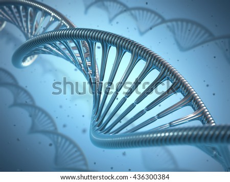 3D illustration, concept of genetic engineering or genetic modification. - stock photo