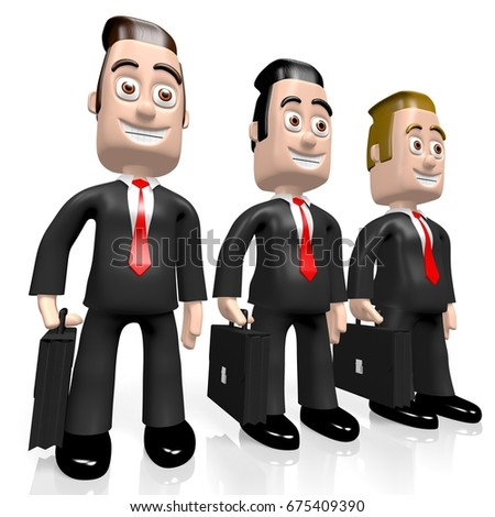 3D illustration/ 3D rendering - businessmen concept