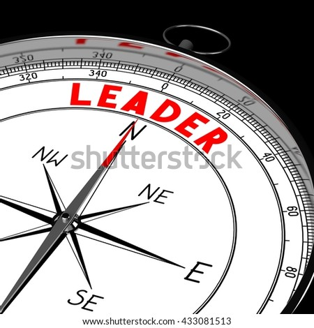 3D illustration/ 3d rendering - compass, leader concept.